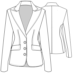 Browse our shop for sewing patterns Jacket 4684 LADIES Jackets