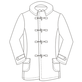 All our patterns have been tested and they are made for garments production Jacket - Mongomery 4683 MEN Jackets