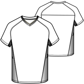 Browse our  sewing patterns Football T-shirt 3000 MEN T-Shirts
