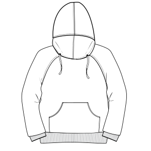 All our patterns have been tested and they are ready for garments production Hoodie Jumper 7068 GIRLS Sweatshirt