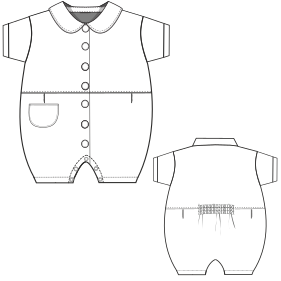 Dressmaking patterns for everybody Suit 0051 BABIES One-Piece