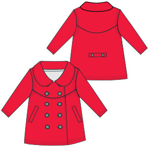 Browse our  sewing patterns Coat 6742 GIRLS Jackets