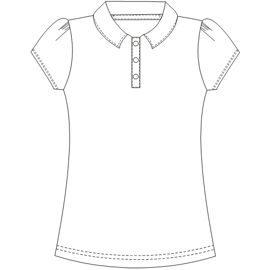 All our patterns have been tested and they are prepared for garments production T-Shirt 634 LADIES T-Shirts