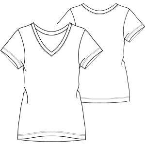 Consult our shop for sewing patterns T-Shirt 7334 LADIES T-Shirts